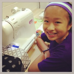 Sewing with a smile!