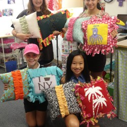 Ruffle pillows and T-Shirt pillows